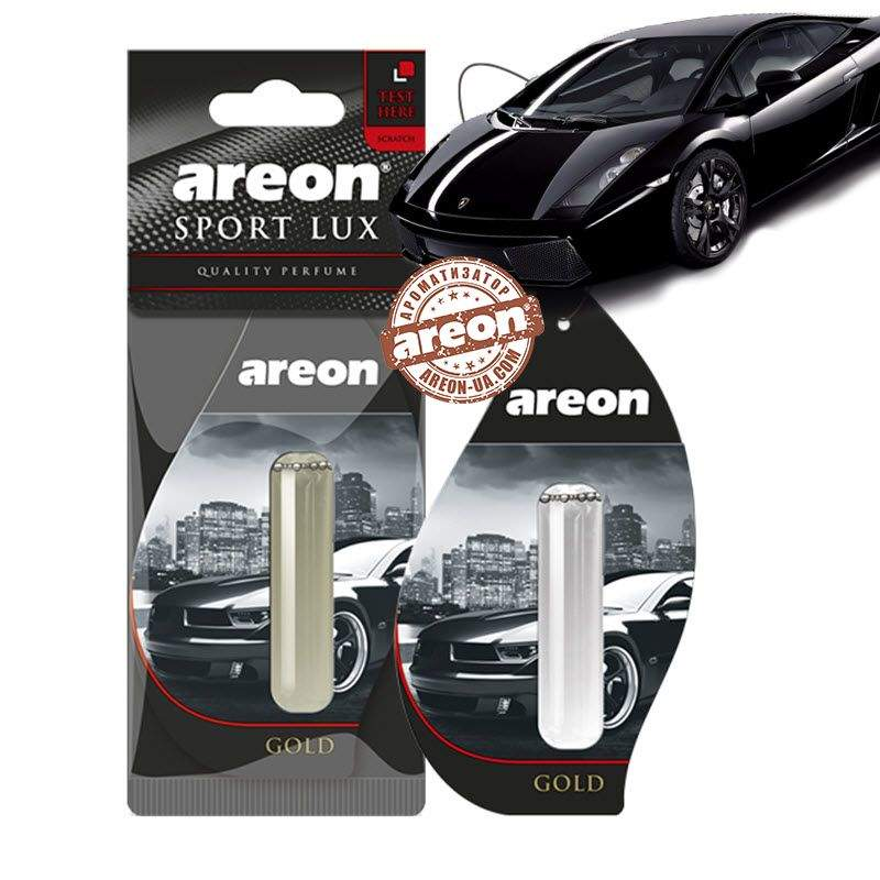 "Освеж.жидк 5ml - ""Areon"" - Sport LUX - Gold (Золото) (24шт/288ящ"